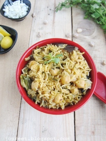Cabbage & Chickpeas Pulao