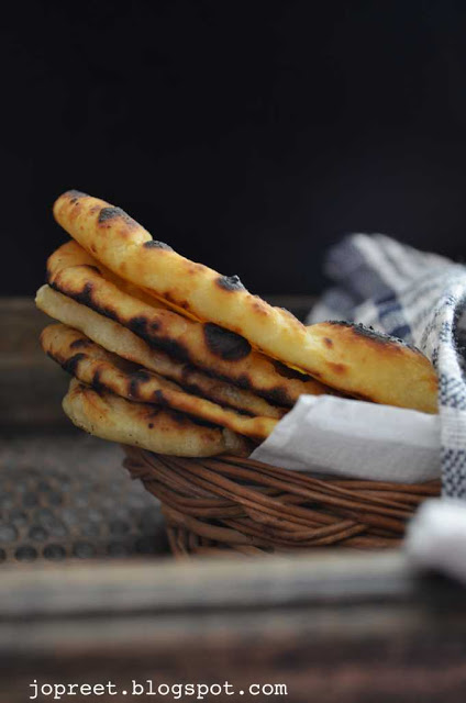 Homemade Naan Bread – without yeast (Stove Top Method)