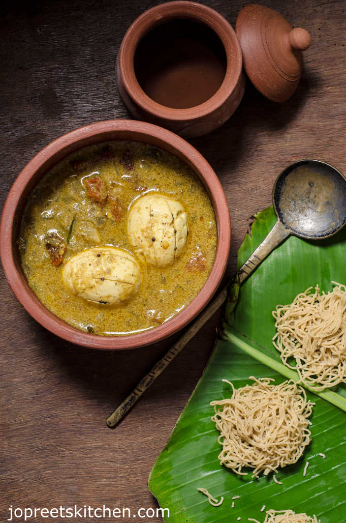 Simple Egg Curry Using Coconut Milk Perfect With Appam Amp Idiyappam Jopreetskitchen