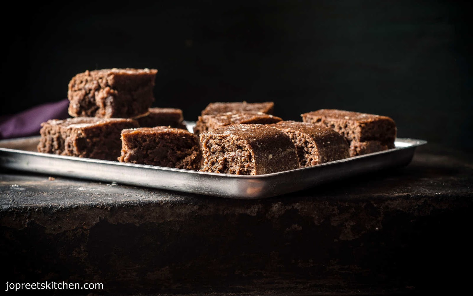 Steamed Wheat & Condensed Milk Brownies (Egg-less & Butter-less) / Easy Chocolate Brownies Recipe