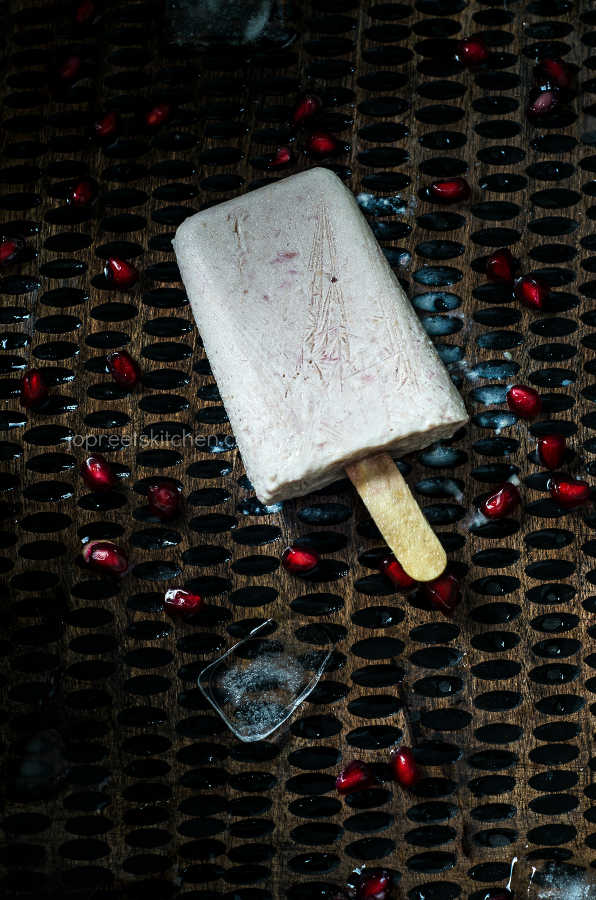 Sweet Corn & Pomegranate Popsicle