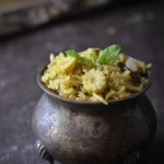 babycorn mint pulao
