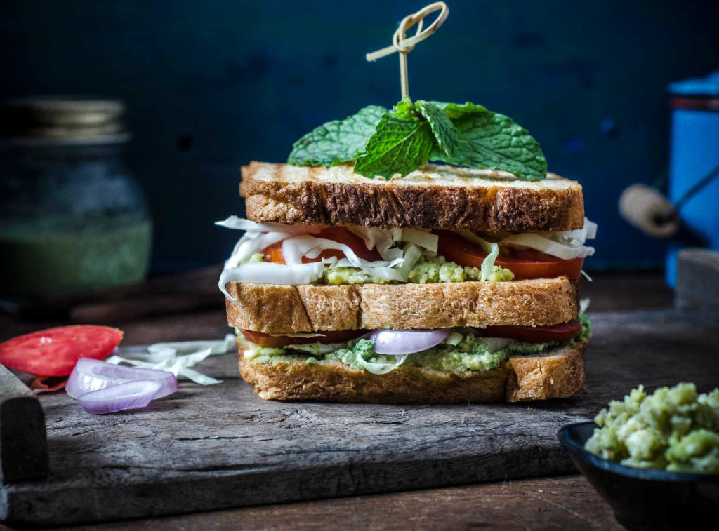 Avocado Sandwich Vegetables & Paneer