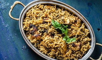 Chicken Tikka Pulao and Aloo Raita