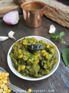 Ash Gourd & Black Nightshade Greens Curry