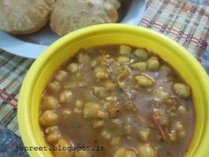 Channa Masala With Poori