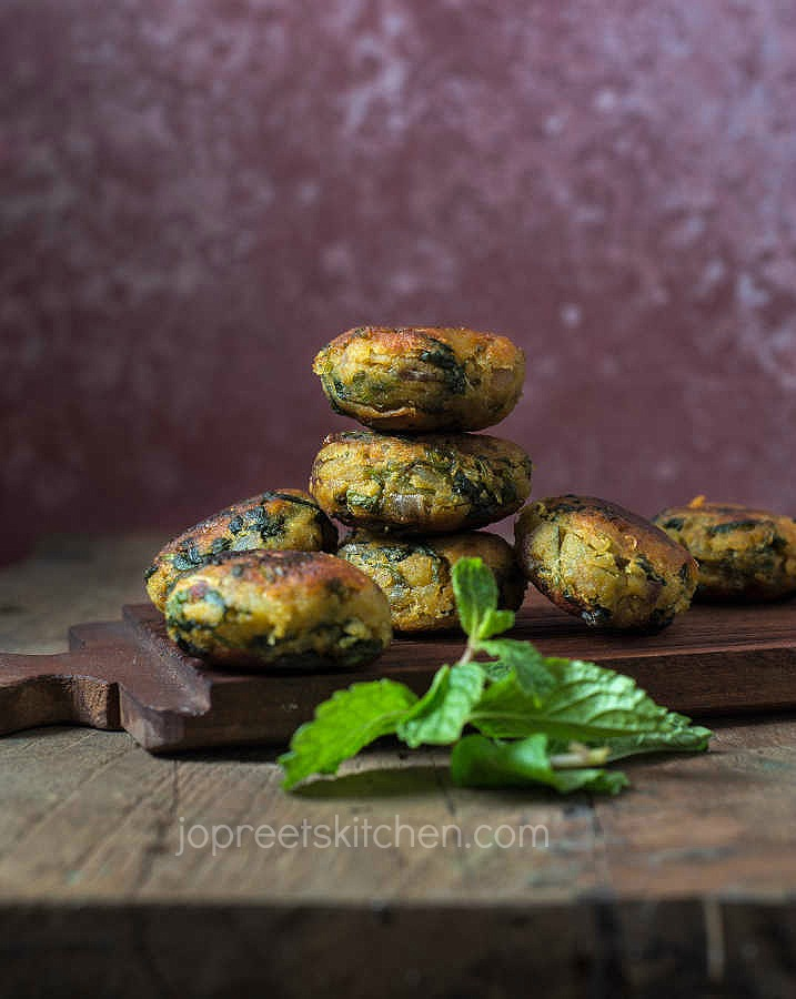 Vallarai Keerai Cutlet | Sweet Potato Brahmi Leaves Tikki