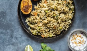Vegetable Kacchi Biryani Recipe | How to make Veg Dum Biryani