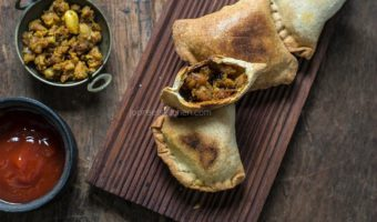 Baked Keema Samosa | Wheat Samosa Recipe
