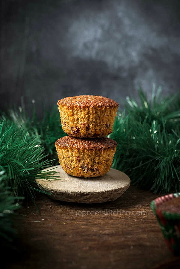 Glace Cherry Muffins / Butter-less Wheat Orange Muffins
