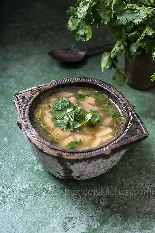 Vazhaithandu Soup Recipe