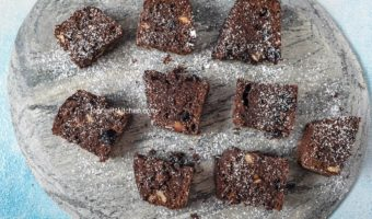 Raisin Brownies Recipe | Chocolate Raisin Brownies