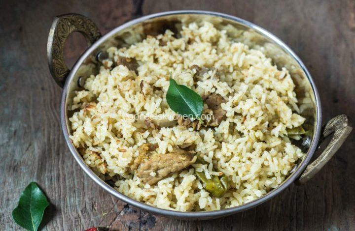 Andhra style Mutton Pulao, How to prepare Mutton Pulao