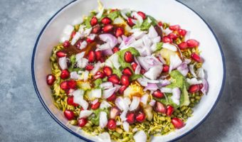 Moong Sprouts Aloo Chaat | Healthy Chaat Recipes