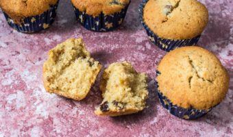 Orange Prune Muffins | Wheat Flour Prune Muffins